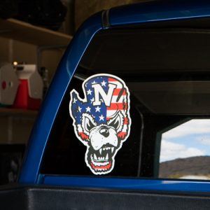 Star Spangled Wolfie Decal (Large)